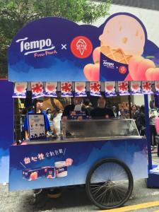 Tempo peach gelato road show Causeway Bay